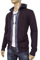 EMPORIO ARMANI Zip Up Cotton Hoodie #123