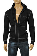 EMPORIO ARMANI Zip Up Cotton Hoodie #92