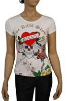 ED HARDY by Christian Audigier Multi Print Lady's Tee #22