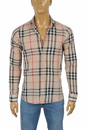 BURBERRY Men's Long Sleeve Dress Shirt 247