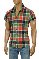 DOLCE & GABBANA Men's Crinkle Short Sleeve Shirt #413