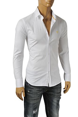 FENDI Men's Button Down Shirt In White #14