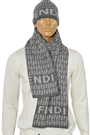 Fendi Men's Hat/Scarf Set #106