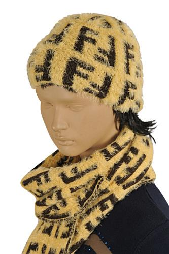 FENDI Ladies' Hat/Scarf Set #127