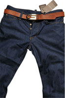 GUCCI Men's Classic Blue Denim Jeans With Belt #63