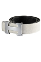 HERMES Men's Leather Reversible Belt #25
