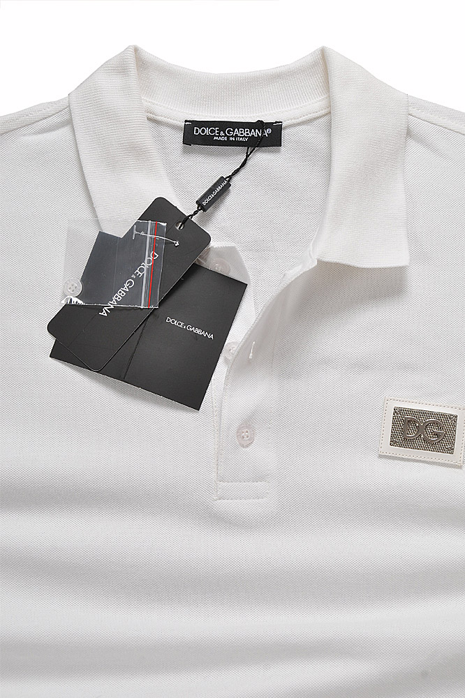 Mens Designer Clothes | DOLCE & GABBANA men's polo shirt with front logo appliqué 469