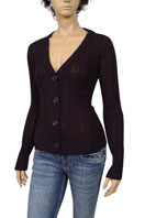 PRADA Ladies V-Neck Button Up Sweater #8