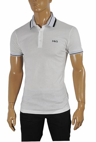 DOLCE & GABBANA men's polo shirt with embroidery 467